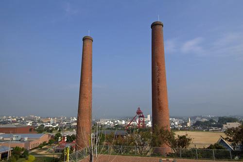 炭坑節にも歌われる明治生まれの煉瓦煙突