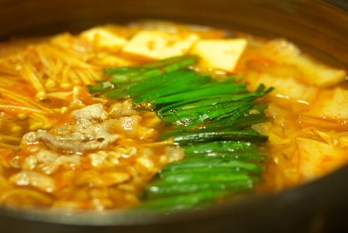まあ、キムチ鍋で温まりましょう