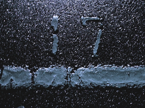 1/17早朝小雨の駐車場